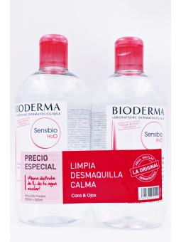 BIODERMA DUPLO SENSIBIO H2O AGUA MICELAR 2X500 ML