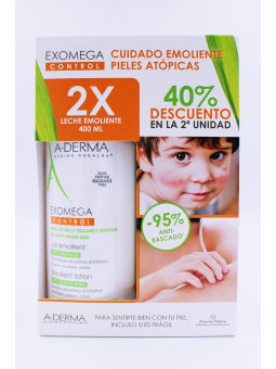 A-DERMA EXOMEGA DUPLO LECHE EMOLIENTE 2X400 ML