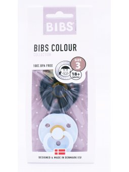 BIBS CHUPETE IRON/BABY BLUE +18 2U