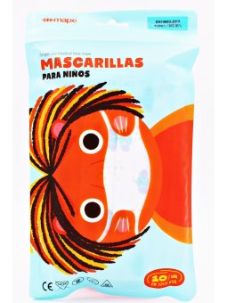 MASCARILLAS QUIRURGICAS INFANTILES 10 U