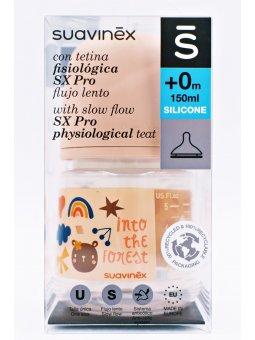 BIBERON TETINA SILICONA FISIOLOGICA SUAVINEX FLUJO M 150 ML