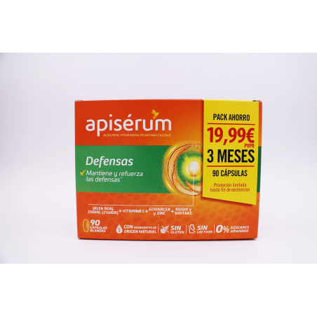 APISERUM DEFENSAS 90 CAPSULAS
