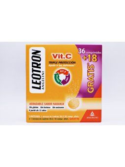 LEOTRON DEFENSAS VITAMINA C 36+18 COMPRIMIDOS EFERVESCENTES
