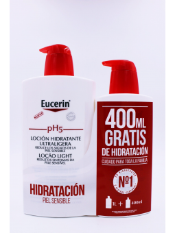 EUCERIN PH5 LOCION ULTRALIGERA PACK 1L.+400ML GRATIS