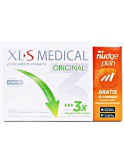 XLS MEDICAL ORIGINAL CAPTAGRASAS NUDGE 180 COMPRIMIDOS